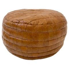 De Sede Patchwork Brown Leather Pouf