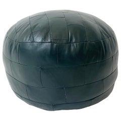 De Sede Patchwork Forest Green Leather Pouf