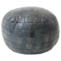 De Sede Patchwork Gray Leather Pouf