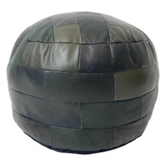 De Sede Patchwork Green Leather Pouf