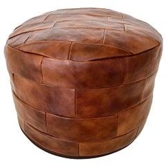 De Sede Patchwork Leather Pouf