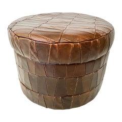 De Sede Patchwork Leather Storage Ottoman