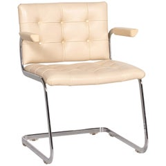 De Sede RH 305/02 Leather Chair Beige Cantilever Dining Chair