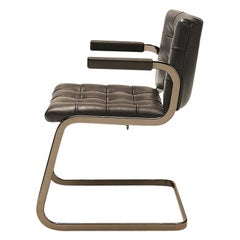 De Sede RH-305 Armchair in Truffe Fabric with Chrome Finish by Robert Haussmann