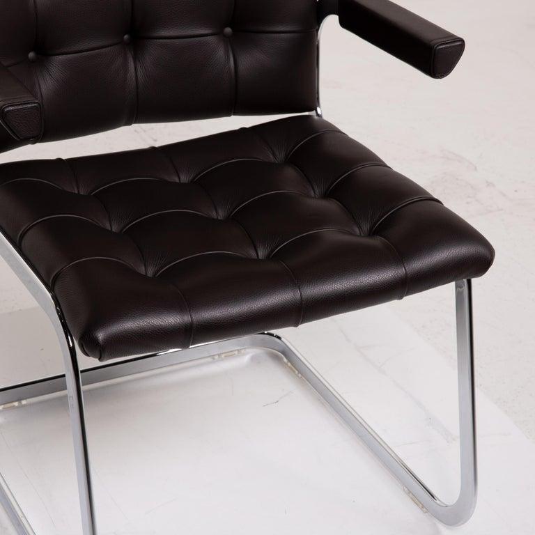 Modern De Sede RH 305 Leather Armchair Dark Brown Chair For Sale