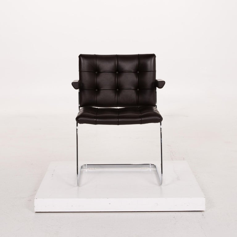 De Sede RH 305 Leather Armchair Dark Brown Chair In Excellent Condition For Sale In Cologne, DE