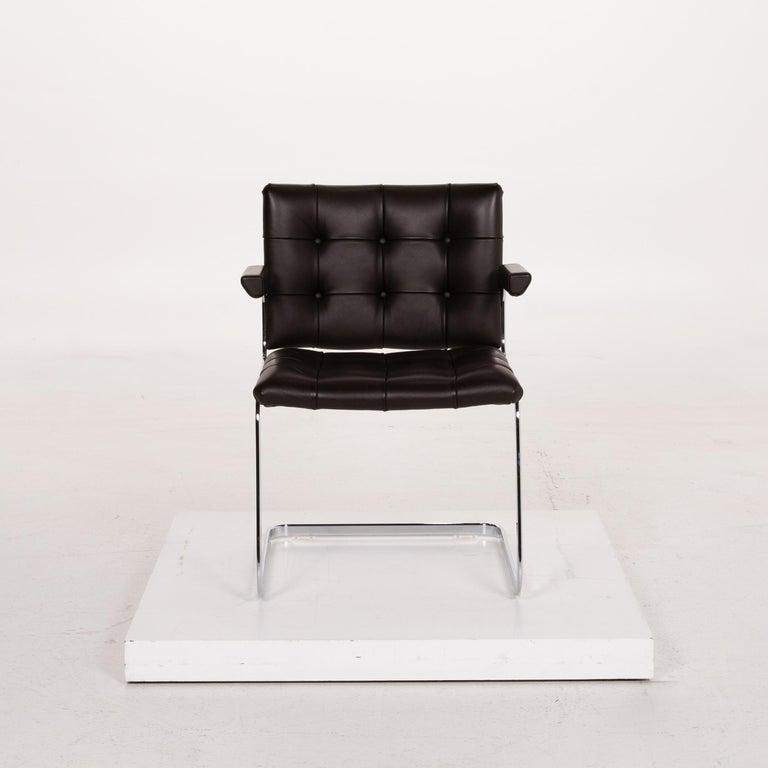 Contemporary De Sede RH 305 Leather Armchair Dark Brown Chair For Sale