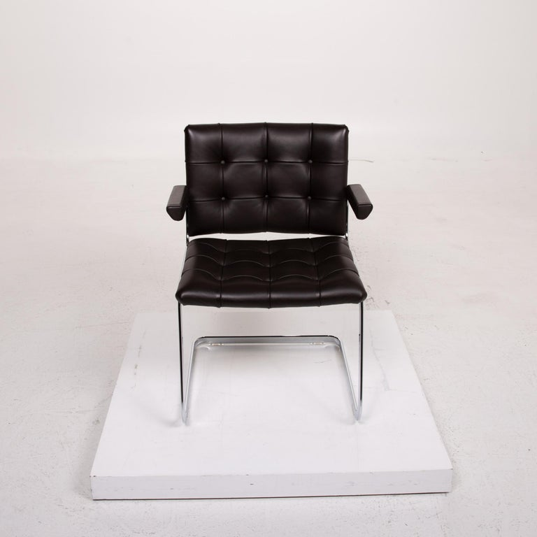 De Sede RH 305 Leather Armchair Dark Brown Chair For Sale 1