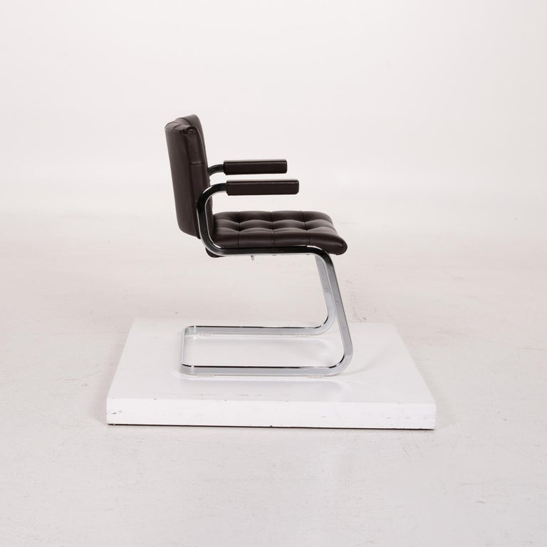 De Sede RH 305 Leather Armchair Dark Brown Chair For Sale 2