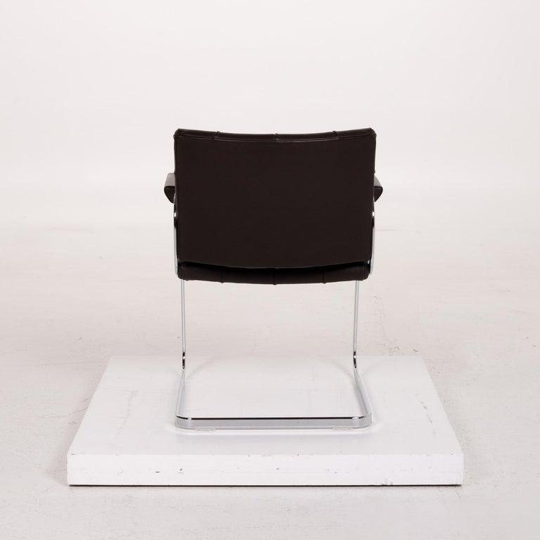 De Sede RH 305 Leather Armchair Dark Brown Chair For Sale 3