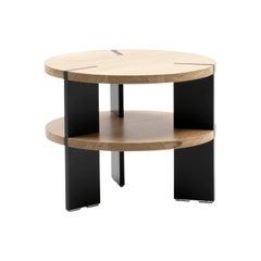 De Sede Round Wood Side Table by Stephan Hürlemann