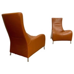De Sede Sculptural Leather Lounge Chairs DS 264