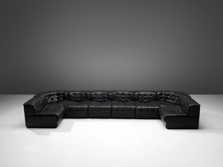 Swiss De Sede Sectional Patchwork Sofa Model DS11 For Sale