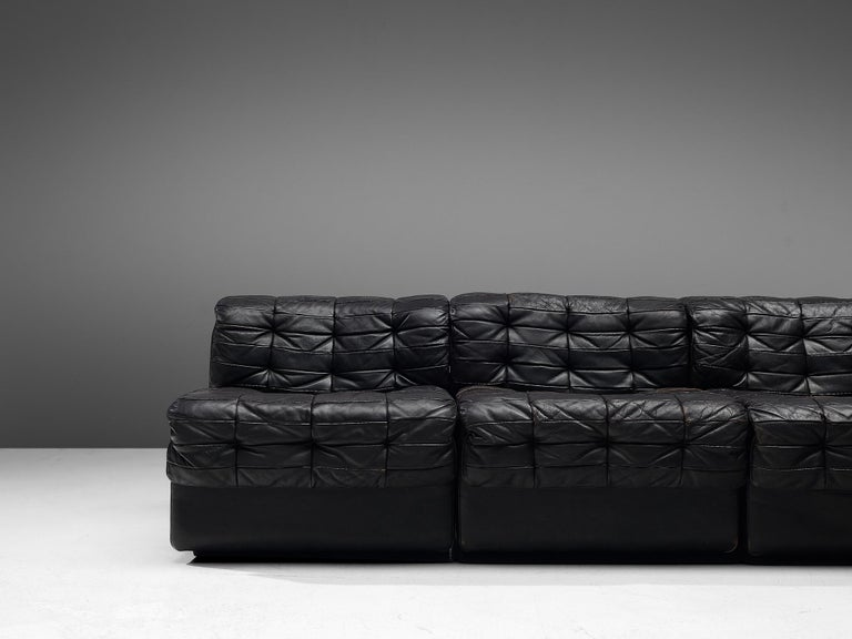 Leather De Sede Sectional Patchwork Sofa Model DS11 For Sale