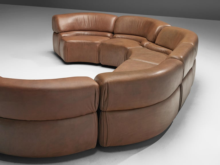 De Sede Sectional Sofa 'Cosmos' in Brown Leather For Sale 1