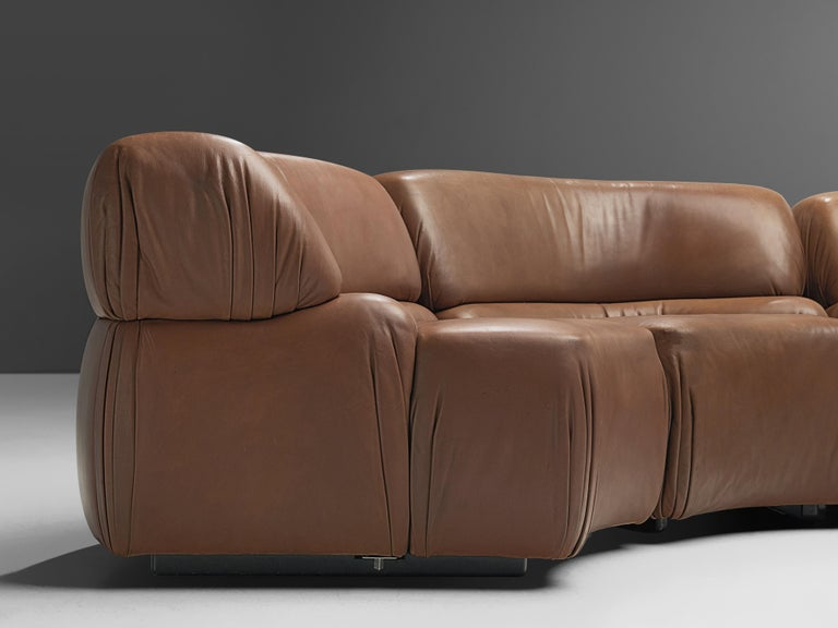 De Sede Sectional Sofa 'Cosmos' in Brown Leather For Sale 2