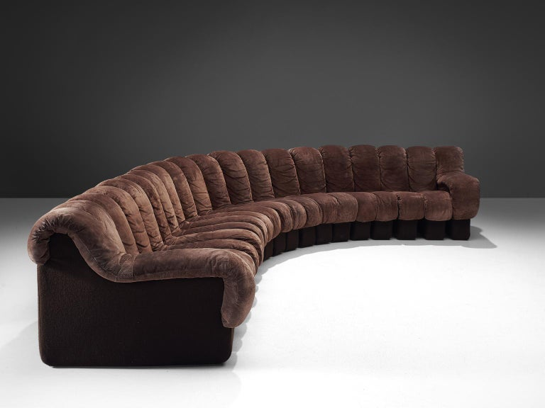 Post-Modern De Sede 'Snake' DS 600 Non Stop 20 Section Sofa For Sale