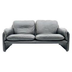 De Sede Sofa DS 61 in Dark Brown Leather, 1960s