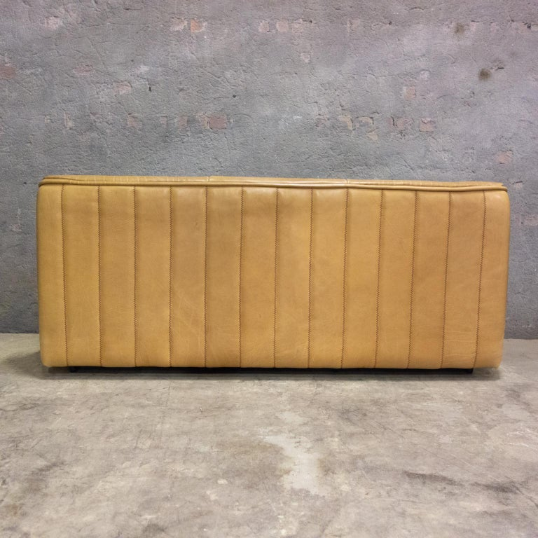 De Sede Sofa Model Ds84, Brown Leather, Switzerland, Swiss Made, 1970s For Sale 4