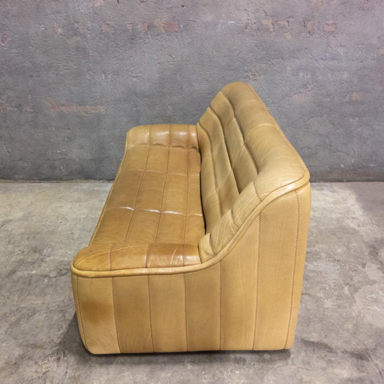De Sede Sofa Model Ds84, Brown Leather, Switzerland, Swiss Made, 1970s For Sale 5