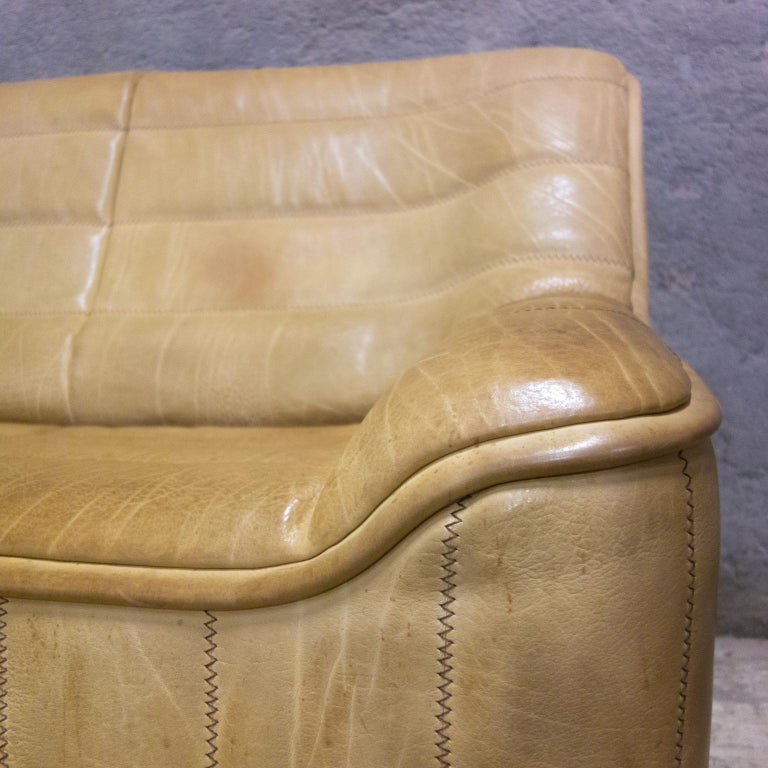 De Sede Sofa Model Ds84, Brown Leather, Switzerland, Swiss Made, 1970s For Sale 6
