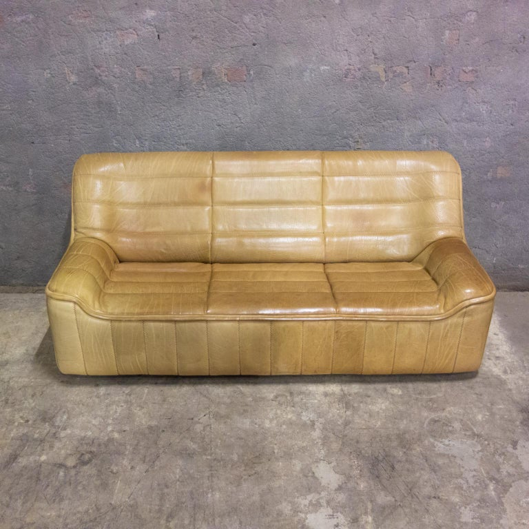 De Sede Sofa Model Ds84, Brown Leather, Switzerland, Swiss Made, 1970s For Sale 8