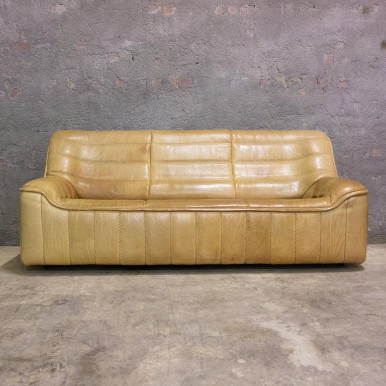 Mid-Century Modern De Sede Sofa Model Ds84, Brown Leather, Switzerland, Swiss Made, 1970s For Sale
