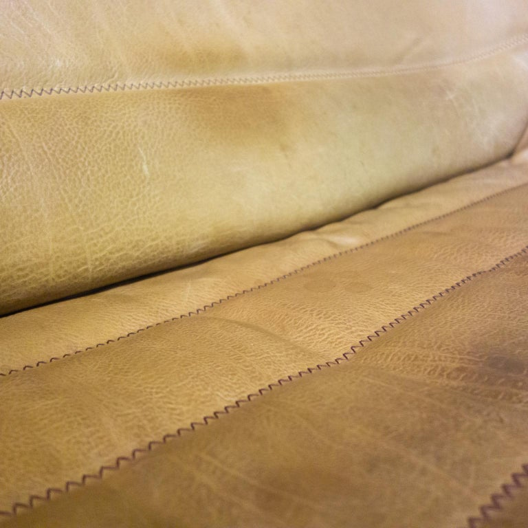 Late 20th Century De Sede Sofa Model DS84, Brown Leather, Switzerland, Swiss Made, 1970s For Sale