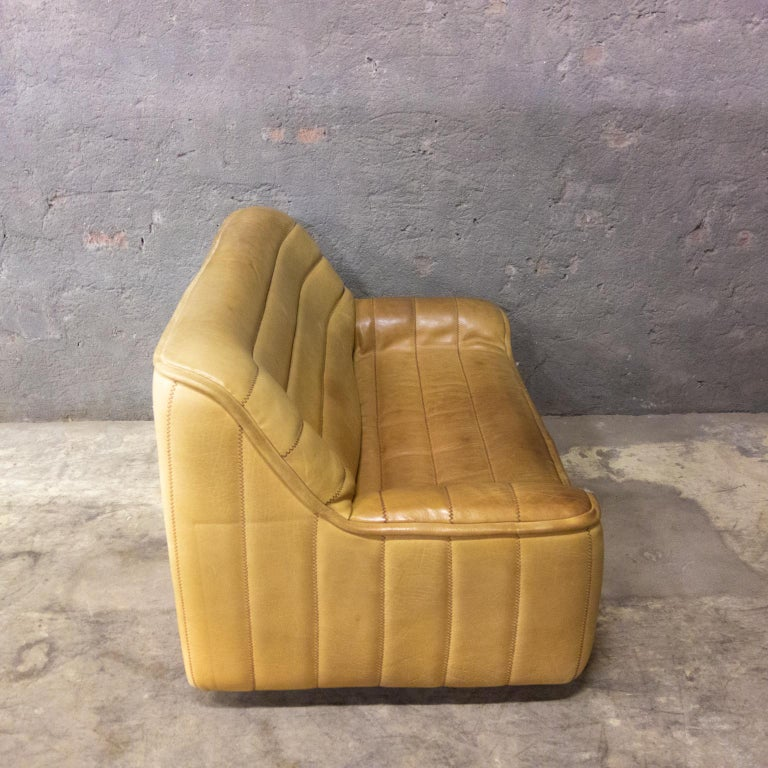 De Sede Sofa Model DS84, Brown Leather, Switzerland, Swiss Made, 1970s For Sale 1