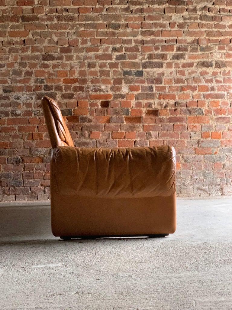De Sede, Switzerland Cognac Leather Sofa Design No DS2011, circa 1980  For Sale 2