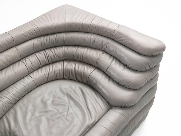 De Sede 'Terrazza' Landscape in Grey Leather In Good Condition For Sale In Waalwijk, NL