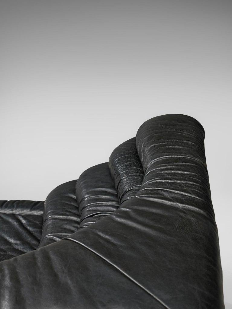 De Sede 'Terrazza' Landscapes in Black Leather by Ubald Klug For Sale 3