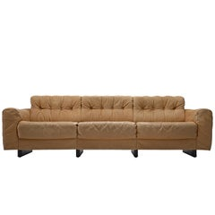 De Sede Three-Seat Sofa in Cognac Leather