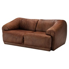 De Sede Two Seat Sofa in Brown Leather
