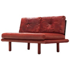 Franz Köttgen for Kill International Two-Seat Sofa in Red Leather