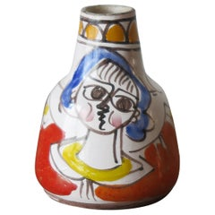 De Simone Italian Mid-Century Modern Ceramic Vase, 1960