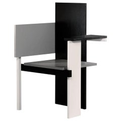 De Stijl Berlin Chair Designed in 1923 by Gerrit Rietveld