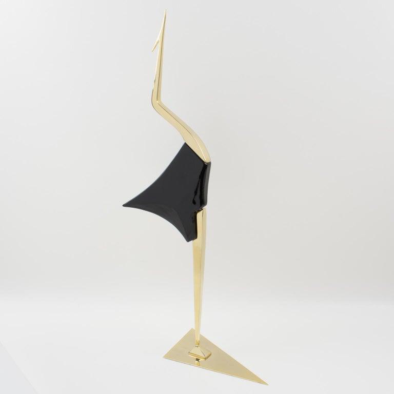 De Stijl Firenze Italy 1970s Giant Wood Brass Bird Sculpture, a Pair For Sale 7