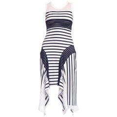 Deadstock Jean Paul Gaultier Sheer Stripe Cotton Jersey Dress