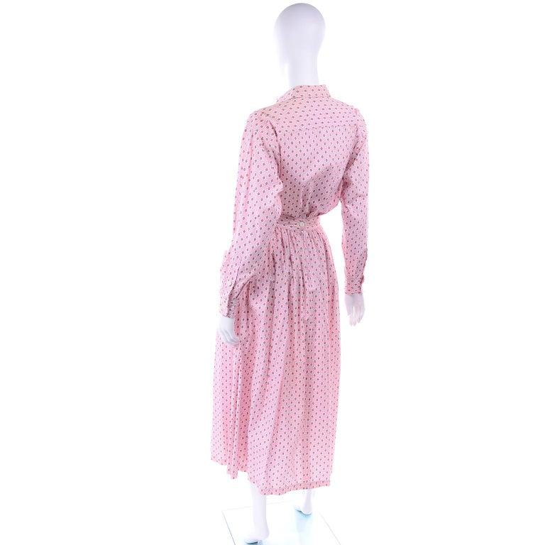 Women's Deadstock New w Tags Vintage Ralph Lauren Pink Floral 2 pc Dress Skirt & Blouse For Sale