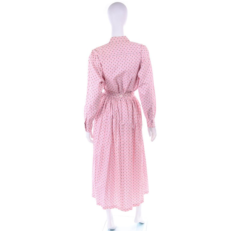 Deadstock New w Tags Vintage Ralph Lauren Pink Floral 2 pc Dress Skirt & Blouse For Sale 1