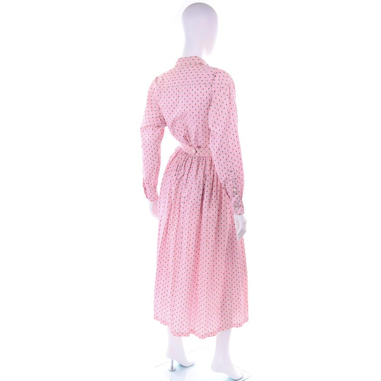 Deadstock New w Tags Vintage Ralph Lauren Pink Floral 2 pc Dress Skirt & Blouse For Sale 2