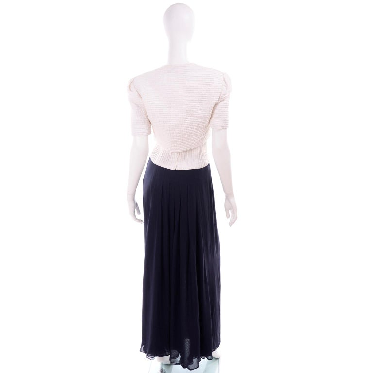 Deadstock Oscar de la Renta 3 pc Evening Dress w White Bolero & Bustier & Skirt For Sale 1