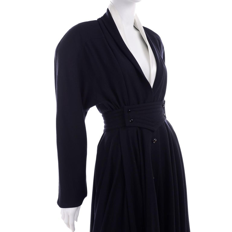 Deadstock Wayne Clark Couture Vintage Wool 1980s Dress New With Original Tags For Sale 4