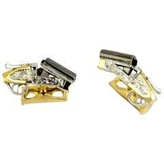 Deakin & Francis 18 Carat Gold Shotgun Cufflinks