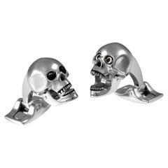 Deakin & Francis Base Metal Skull Cufflinks