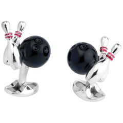 Deakin & Francis Bowling Ball and Skittles Cufflinks