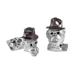 Deakin & Francis Chimpanzee in Hat Cufflinks