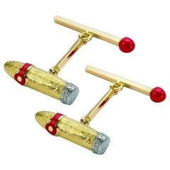 Deakin & Francis Gold Cigar and Matchstick Cufflinks