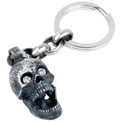 Deakin & Francis Large Skull Head Keyring with Popping Gem Eyes